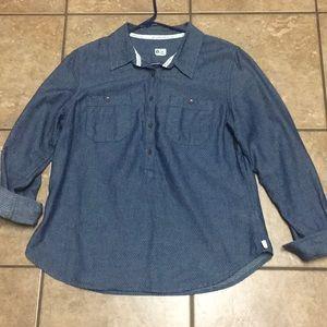 BOGO free! TOMS Target Blue jean shirt. Large